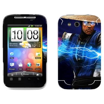 Виниловая наклейка «Рэйден Mortal Kombat» на телефон HTC Wildfire S