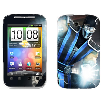 Виниловая наклейка «Саб-Зиро Mortal Kombat» на телефон HTC Wildfire S