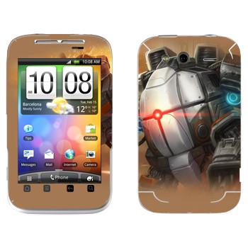 Виниловая наклейка «Shards of war Бастион» на телефон HTC Wildfire S