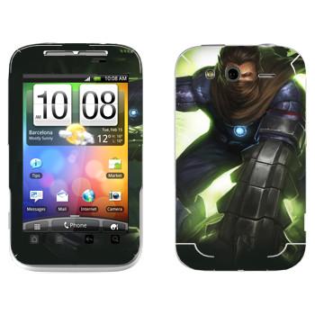 Виниловая наклейка «Shards of war Брич» на телефон HTC Wildfire S