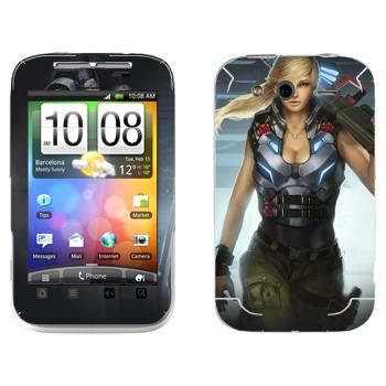 Виниловая наклейка «Shards of war Джемини» на телефон HTC Wildfire S