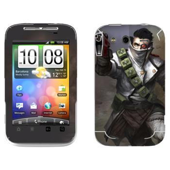 Виниловая наклейка «Shards of war Flatline» на телефон HTC Wildfire S