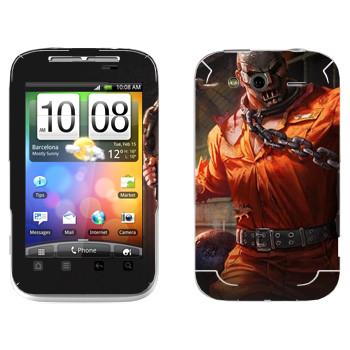 Виниловая наклейка «Shards of war Рино» на телефон HTC Wildfire S