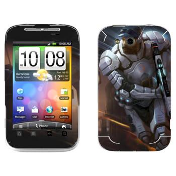 Виниловая наклейка «Shards of war Страйкер» на телефон HTC Wildfire S