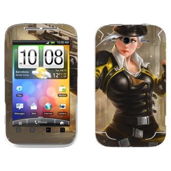 Виниловая наклейка «Shards of war Валькирия» на телефон HTC Wildfire S