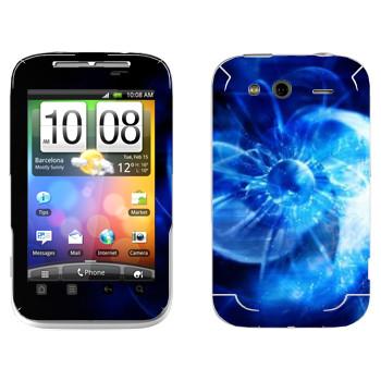 Виниловая наклейка «Star conflict Abstraction» на телефон HTC Wildfire S
