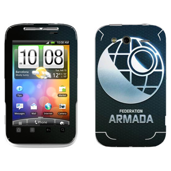 Виниловая наклейка «Star conflict Armada» на телефон HTC Wildfire S