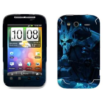 Виниловая наклейка «Star conflict Death» на телефон HTC Wildfire S