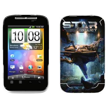 Виниловая наклейка «Star Conflict Игра» на телефон HTC Wildfire S