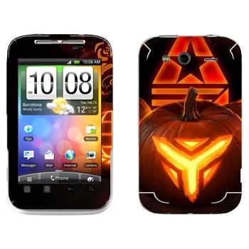 Виниловая наклейка «Star conflict Pumpkin» на телефон HTC Wildfire S