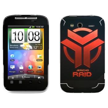 Виниловая наклейка «Star conflict Raid» на телефон HTC Wildfire S