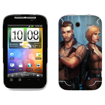 Виниловая наклейка «Star Conflict Солдаты» на телефон HTC Wildfire S