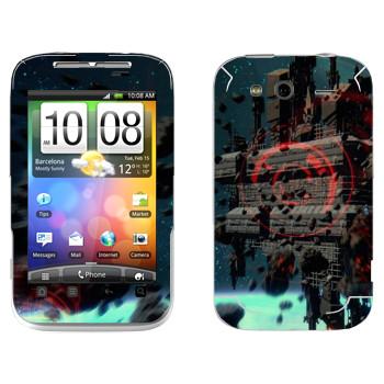 Виниловая наклейка «Star Conflict сцена» на телефон HTC Wildfire S
