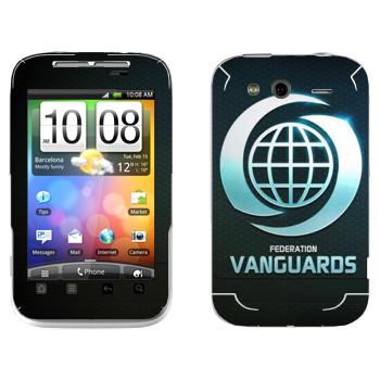 Виниловая наклейка «Star conflict Vanguards» на телефон HTC Wildfire S