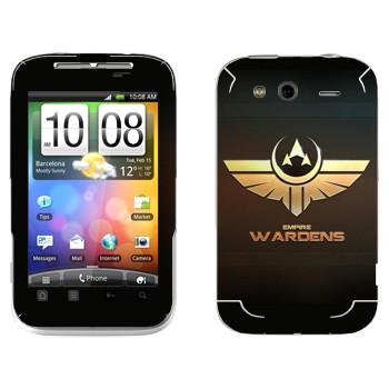Виниловая наклейка «Star conflict Wardens» на телефон HTC Wildfire S