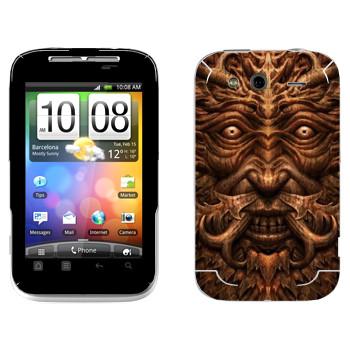 Виниловая наклейка «Темные Души» на телефон HTC Wildfire S