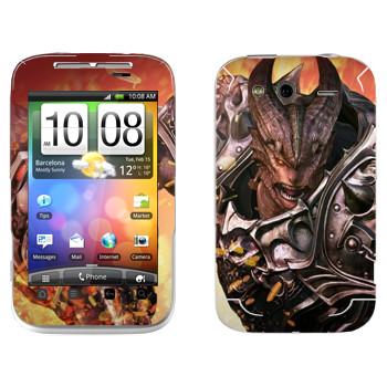 Виниловая наклейка «Tera Aman» на телефон HTC Wildfire S