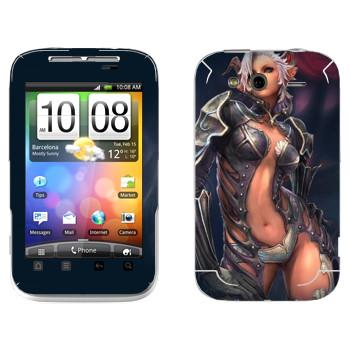 Виниловая наклейка «Tera Castanic» на телефон HTC Wildfire S