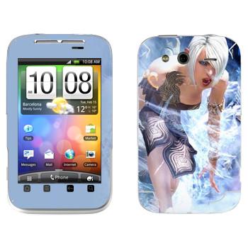 Виниловая наклейка «Tera Elf cold» на телефон HTC Wildfire S
