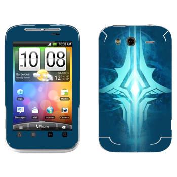 Виниловая наклейка «Tera logo» на телефон HTC Wildfire S