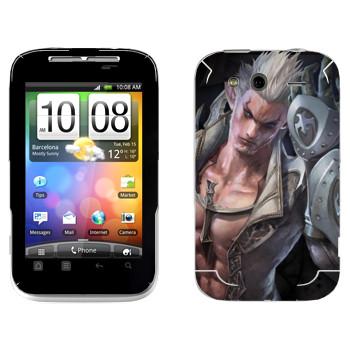 Виниловая наклейка «Tera mаn» на телефон HTC Wildfire S