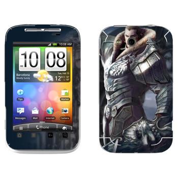 Виниловая наклейка «Tera рыцарь» на телефон HTC Wildfire S