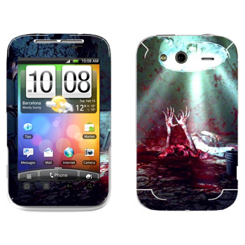Виниловая наклейка «The Evil Within  - Кровавое месиво» на телефон HTC Wildfire S