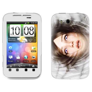 Виниловая наклейка «The Evil Within - Лицо в воде» на телефон HTC Wildfire S