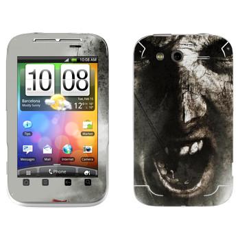 Виниловая наклейка «The Evil Within - Лицо зомби» на телефон HTC Wildfire S