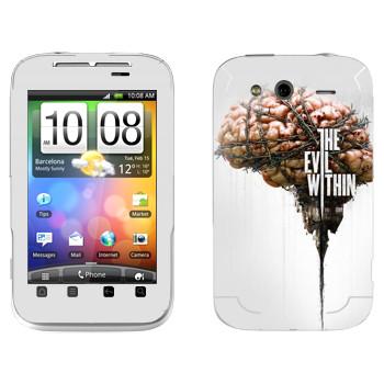Виниловая наклейка «The Evil Within - Мозг» на телефон HTC Wildfire S