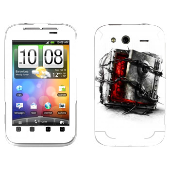 Виниловая наклейка «The Evil Within - Сейф» на телефон HTC Wildfire S