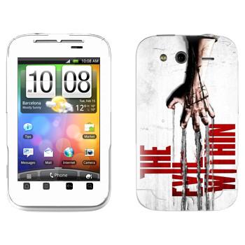 Виниловая наклейка «The Evil Within» на телефон HTC Wildfire S