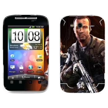 Виниловая наклейка «Titanfall солдаты» на телефон HTC Wildfire S