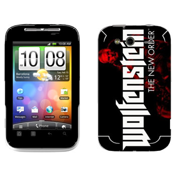 Виниловая наклейка «Wolfenstein - Лого» на телефон HTC Wildfire S