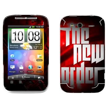 Виниловая наклейка «Wolfenstein - Новый порядок» на телефон HTC Wildfire S