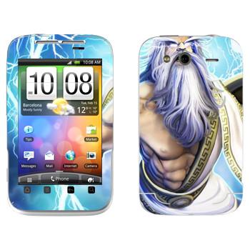 Виниловая наклейка «Zeus : Smite Gods» на телефон HTC Wildfire S
