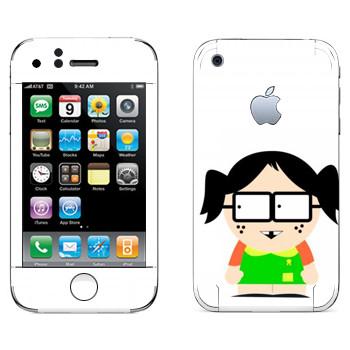 Виниловая наклейка «Девочка - Южный Парк» на телефон Apple iPhone 3G