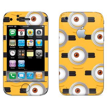 Виниловая наклейка «Глаз Миньона» на телефон Apple iPhone 3G
