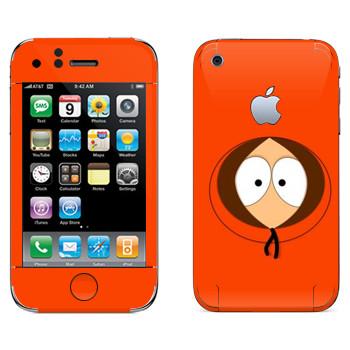 Виниловая наклейка «Кенни - Южный Парк» на телефон Apple iPhone 3G