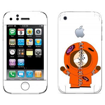 Виниловая наклейка «Кенни потрепанный - Южный Парк» на телефон Apple iPhone 3G