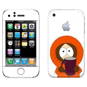 Виниловая наклейка «Кенни с кружкой - Южный Парк» на телефон Apple iPhone 3G