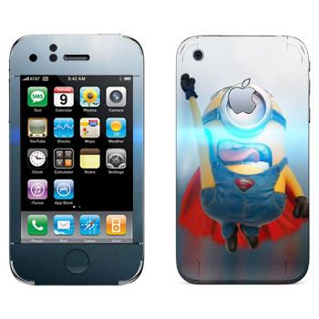 Виниловая наклейка «Миньон из стали» на телефон Apple iPhone 3G