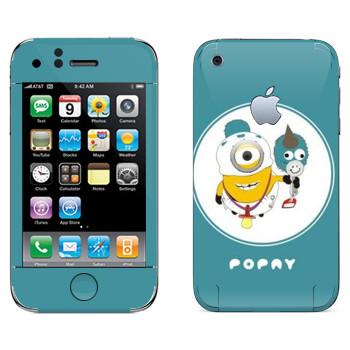 Виниловая наклейка «Миньон младенец» на телефон Apple iPhone 3G