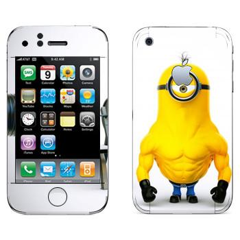 Виниловая наклейка «Миньон силач» на телефон Apple iPhone 3G