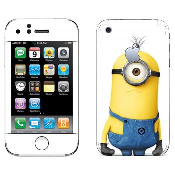 Виниловая наклейка «Удивленный Миньон» на телефон Apple iPhone 3G