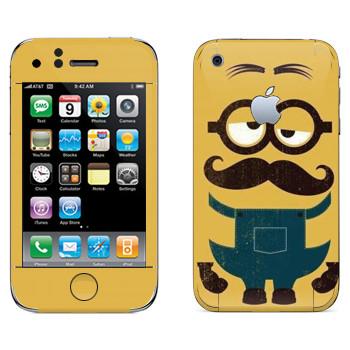 Виниловая наклейка «Усатый Миньон» на телефон Apple iPhone 3G