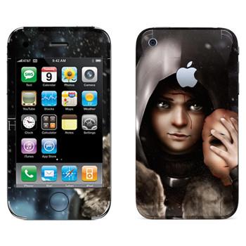 Виниловая наклейка «Бран Старк» на телефон Apple iPhone 3GS