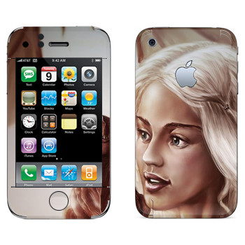Виниловая наклейка «Daenerys Targaryen - Game of Thrones» на телефон Apple iPhone 3GS