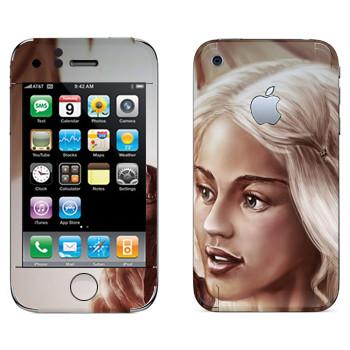 Виниловая наклейка «Daenerys Targaryen - Game of Thrones» на телефон Apple iPhone 3GS