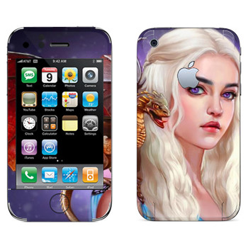 Виниловая наклейка «Дейенерис Таргариен» на телефон Apple iPhone 3GS